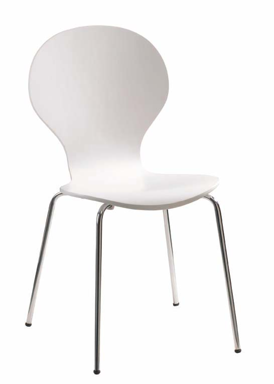 White Color Laminate Chair